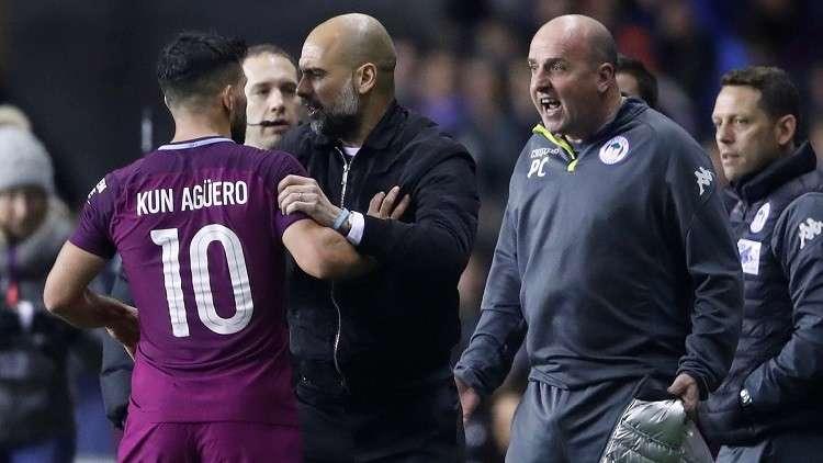 بالفيديو.. أغويرو يعتدي على مشجع بعد هزيمة فريقه