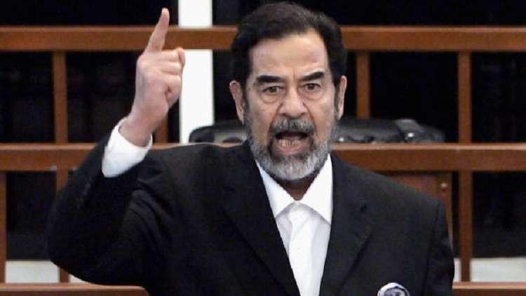 عبارة عن صدام حسين تتسبب في استنفار أجهزة الأمن الكويتية!