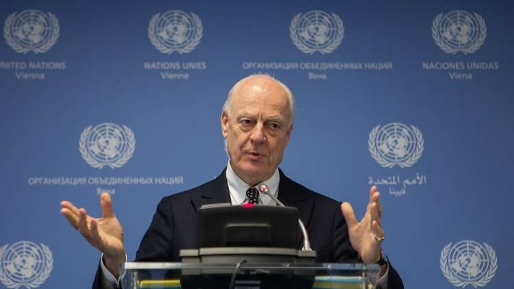 دي ميستورا يتوقع محادثات صعبة بشأن وقف إطلاق النار في سوريا