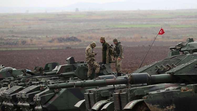الجيش التركي يقصف رتلا حاول دخول عفرين ويحيد 44 مسلحا
