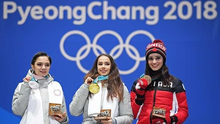 بوتين يهنئ صاحبة الميدالية الأولى لروسيا في أولمبياد 2018