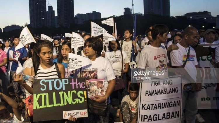 مظاهرات في مانيلا احتجاجا على القسوة ضد تجار المخدرات