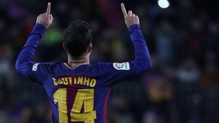 شاهد .. كوتينيو يحرز هدفا لبرشلونة