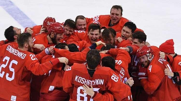 منتخب روسيا لهوكي الجليد يحصد الميدالية الذهبية في أولمبياد بيونغ تشانغ