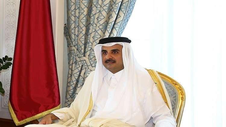 أمير قطر يبحث مع الجبوري إعادة إعمار العراق واستقراره