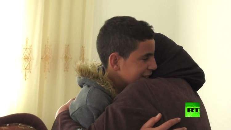 الطفل الفلسطيني محمد التميمي خارج أسوار السجون الإسرائيلية