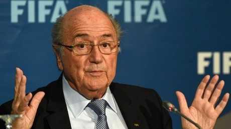 الرئيس السابق للاتحاد الدولي لكرة القدم السويسري جوزيف بلاتر