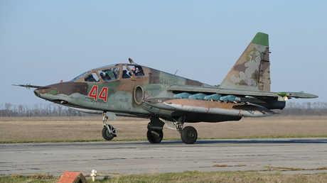 """مقاتلة روسية """"سو-25"""" (صورة أرشيفية)"""