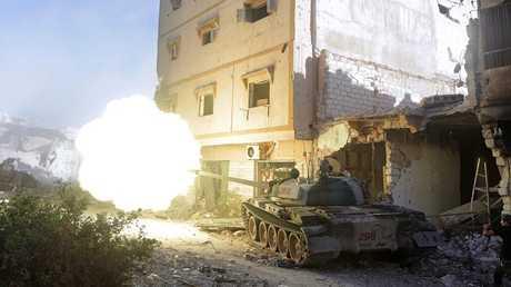 دبابة تابعة للجيش الليبي - أرشيف
