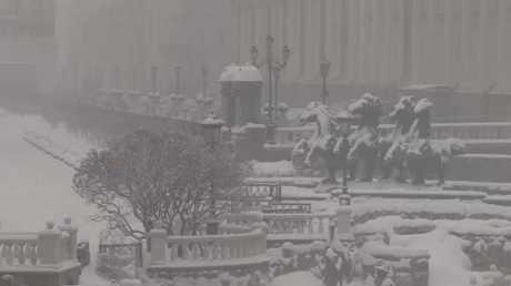عاصفة ثلجية شديدة تضرب موسكو
