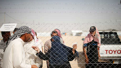 مجموعة من النازحين في العراق
