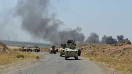 القوات العراقية في منطقة جبال حمرين بكركوك