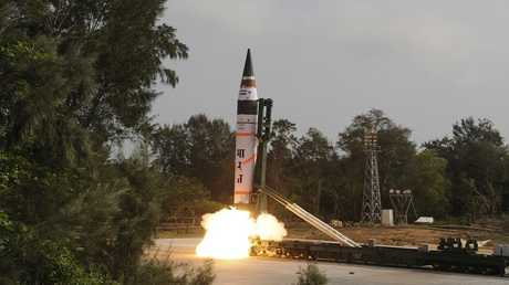 إطلاق تجريبي لصاروخ هندي- ارشيف