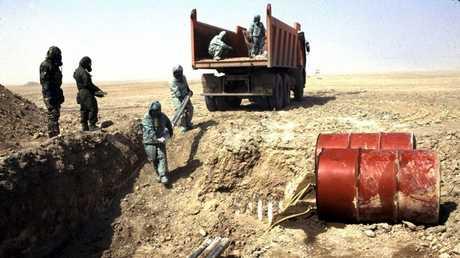 إتلاف المخزون الكيميائي في العراق (صورة أرشيفية)