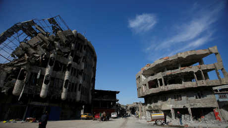 جانب من حجم الدمار في مدينة الموصل العراقية