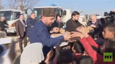 مساعدات روسية للاجئي سوريا في لبنان