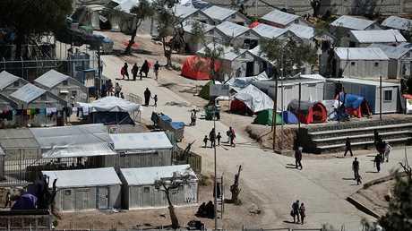 مركز لاستقبال طالبي اللجوء في جزيرة ليسبوس اليونانية