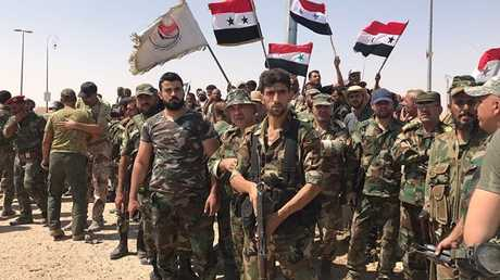 مقاتلون من القوات الحكومية السورية