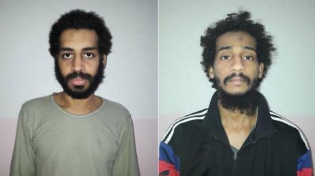 صورة مجمعة للمتشددين ألكسندا كوتي (إلى اليسار) والشافعي الشيخ اللذين تقول قوات سوريا الديمقراطية إنهما مواطنان بريطانيان