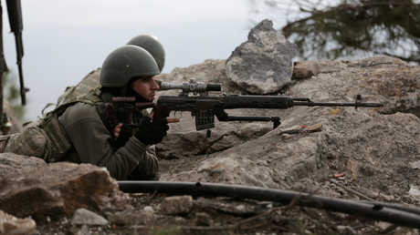 جنود أتراك في منطقة عفرين السورية