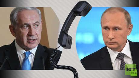 الرئيس الروسي، فلاديمير بوتين، ورئيس الوزراء الإسرائيلي، بنيامين نتنياهو.