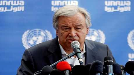 أرشيف -  أمين عام الأمم المتحدة أنطونيو غوتيريش