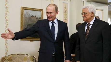 الرئيس الفلسطيني محمود عباس ;الرئيس الروسي فلاديمير بوتين