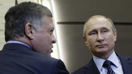 فلاديمير بوتين يستقبل الملك عبد الله
