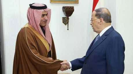 الرئيس اللبناني ميشال عون ووزير الدولة السعودي لشؤون الخليج العربي ثامر السبهان