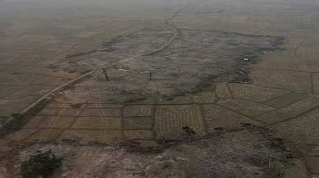 تجريف قرى كان يسكنها الروهينغا في ميانمار