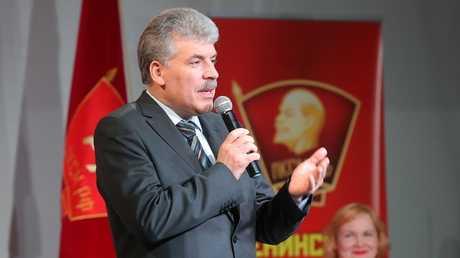المرشح لانتخابات الرئاسة الروسية عن الحزب الشيوعي الروسي بافيل غرودينين