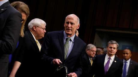 مدير الاستخبارات القومية الأمريكية دان كوتس أثناء جلسة في الكونغرس
