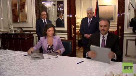 توقيع مذكرة تعاون بين RT والتلفزيون الفلسطيني