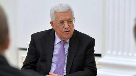 الرئيس الفلسطيني محمود عباس أثناء زيارته لـموسكو