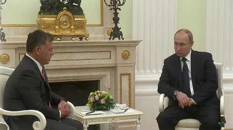قمة روسية أردنية في العاصمة موسكو