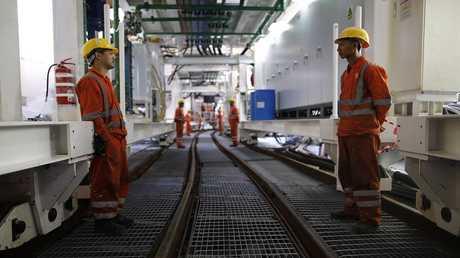 عمال صينيون في خط مترو تل أبيب - أرشيف