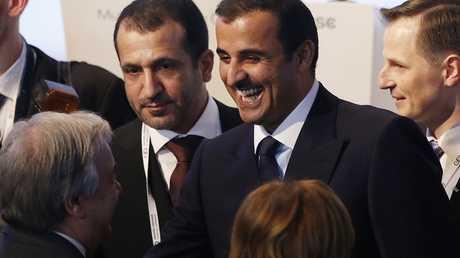 أمير قطر تميم بن حمد آل ثاني  خلال مؤتمر ميونخ
