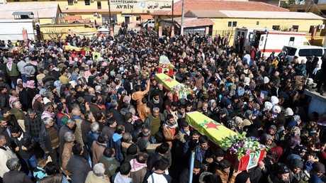 تشييع مقاتلين من الوحدات الكردية
