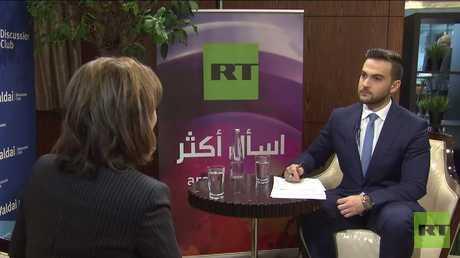مقابلة خاصة مع بثينة شعبان على هامش منتدى فالداي