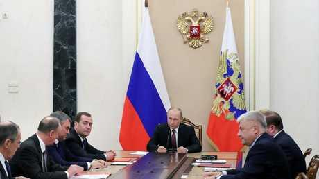 اجتماع مجلس الأمن الروسي