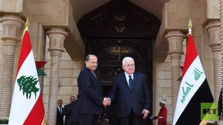 معصوم يستقبل عون في بغداد