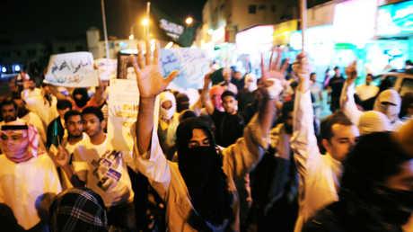 مظاهرة سابقة في القطيف