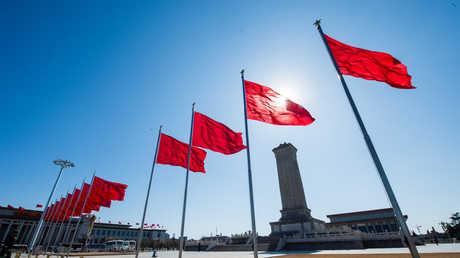 الأعلام الصينية في بكين