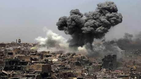 أرشيف - غارات للتحالف الدولي على الموصل