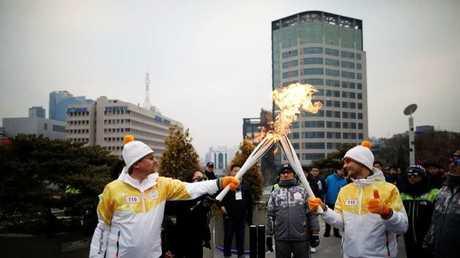 الألعاب الأولمبية الشتوية بكوريا الجنوبية - أرشيف -