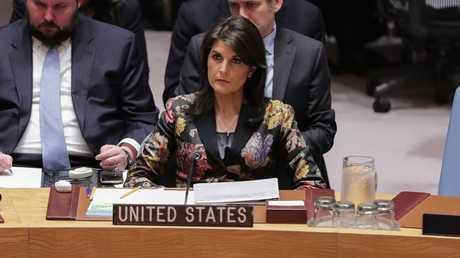 مندوبة الولايات المتحدة الدائمة لدى الأمم المتحدة نيكي هايلي