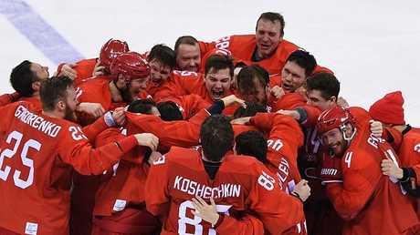 منتخب روسيا يحصد ذهبية مسابقة الهوكي على الجليد في أولمبياد بيونغ تشانغ