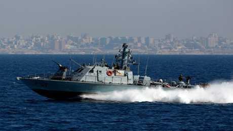 دورية اسرائيلية مقابل شاطئ غزة