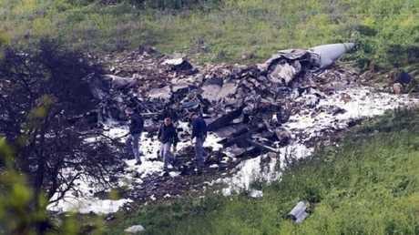 حطام طائرة F16 الإسرائيلية