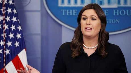 المتحدثة باسم البيت الأبيض سارة ساندرز